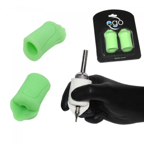 2PCS Hot EGO Silicone Gel Tattoo Grip Cover Green