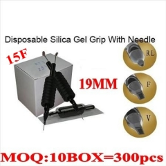 300pcs 15F  Disposable grips with needles 19MM
