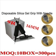 400pcs 9RL Disposable grips with needles 16MM