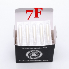 7FT- Hurricane White Plastic Disposable Tips, Box of  50PCS