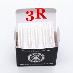 3RT- Hurricane White Plastic Disposable Tips, Box of  50PCS