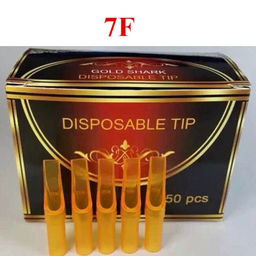 7F- 250pcs Yellow Plastic Disposable Tips