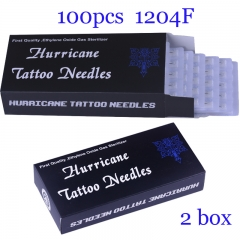 100Pcs Flat Super Quality Hurricane Tattoo Needles 1204F with 2BOX