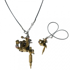 Fashion Mini Tattoo Machine Pendant Toy with Chain Necklace