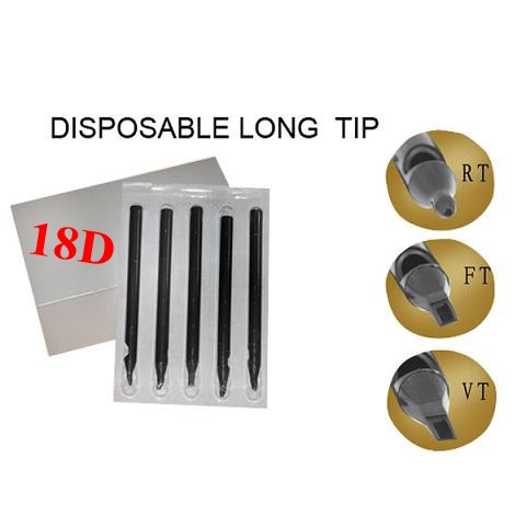 18DT Disposable Long Tips 108MM BOX OF 50