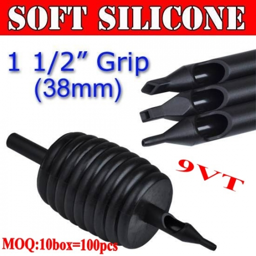 100pcs 9VT Soft Silicone Disposable Grips 38MM