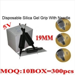 300pcs 5V  Disposable grips with needles 19MM
