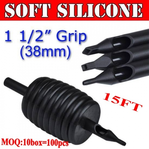 100pcs 15FT Soft Silicone Disposable Grips 38MM