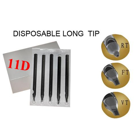 11DT Disposable Long Tips 108MM BOX OF 50