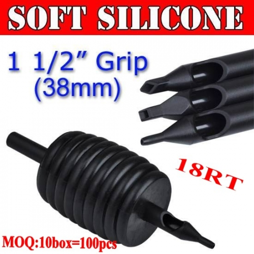 100pcs 18RT Soft Silicone Disposable Grips 38MM