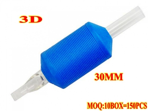 150pcs 3D Ultra Rubber Disposable Tubes 30MM without needles