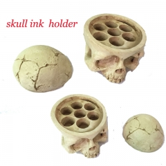 New Premium Cyan Skull Tattoo Ink Cap Cup Holder