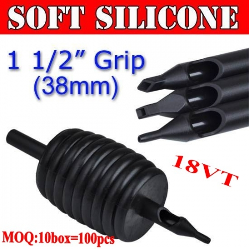 100pcs 18VT Soft Silicone Disposable Grips 38MM