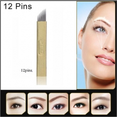 20PCS PCD 12 Pin Permanent Makeup Eyebrow  Needles