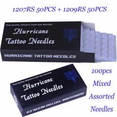 100Pcs Mixed size Hurricane tattoo needle 7RS/9RS 50pcs of each
