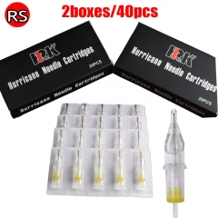 40pcs HRK Cartridge Needles with Membrane 1203RS of 2box