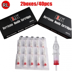 40pcs HRK Cartridge Needles with Membrane 1218RL of 2box