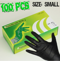 High Quality Tattoo Nitrile Gloves Black-S
