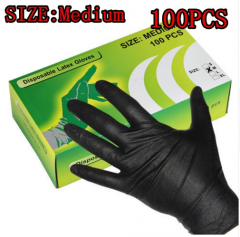 High Quality Tattoo Nitrile Gloves Black-M