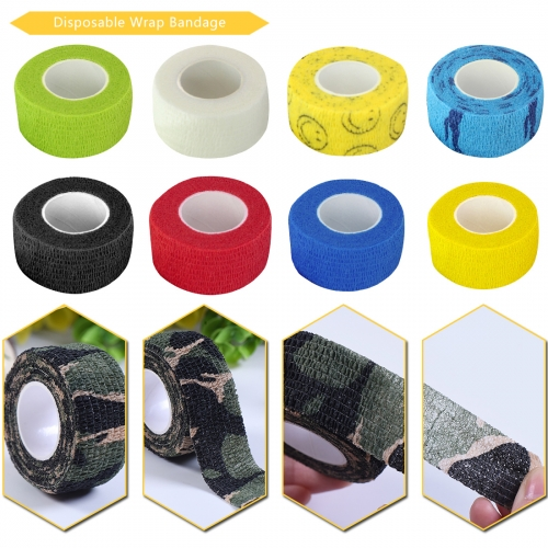 6pcs/lot Tattoo Cohesive Bandages 2.5CM